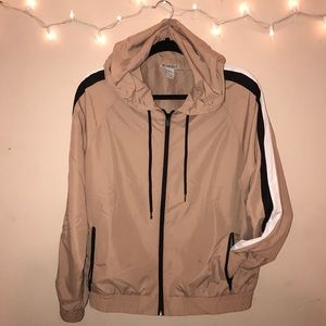 Athletic windbreaker jacket